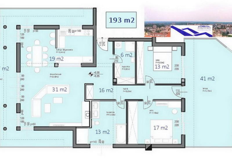 Pula – PENTHOUSE 193 m2.