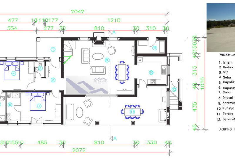 Kuća = započeto građenje, Rakalj.
