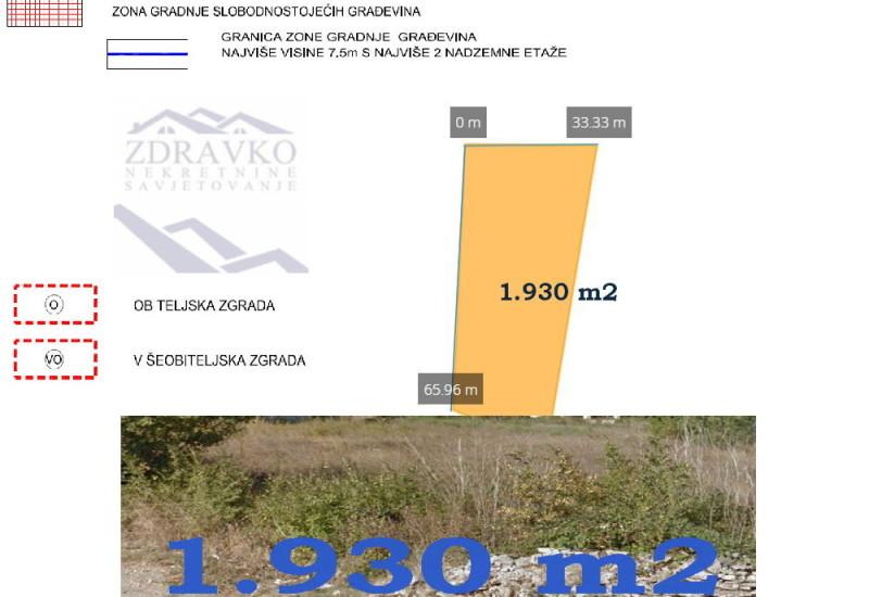 Građevinsko zemljište 1.930 m2, Ližnjan.