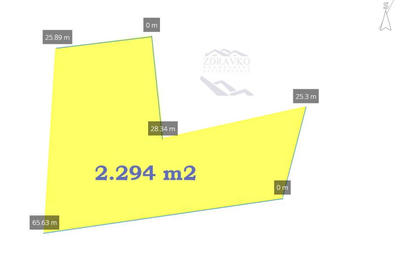 Građevinsko zemljište 2.294 m2, Pačići.