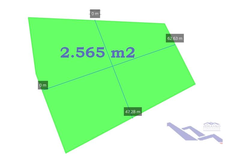 Građevinsko zemljište 2.565 m2, Butkovići