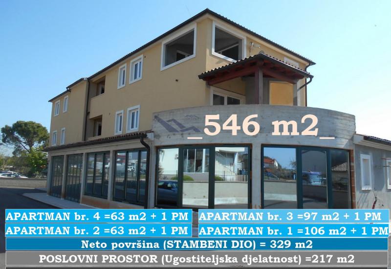 Stambeno poslovna zgrada, 546 m2