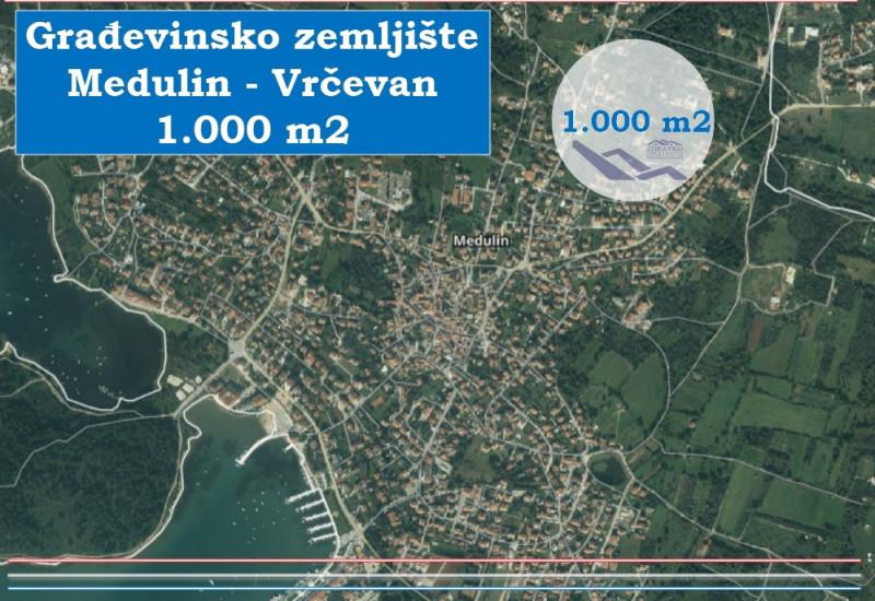 Građevinsko zemljište u Medulinu, 1000 m2