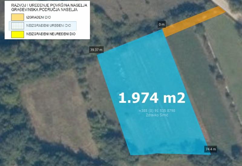 Građevinsko zemljište 1.970 m2, Juršići – Režanci